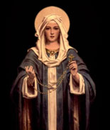 Mary with Rosary Image